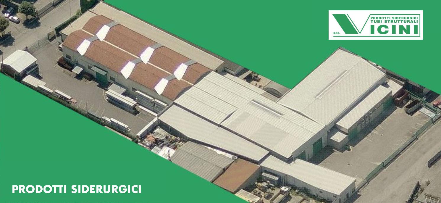 foto aerea dello stabilimento di Vicini Tubi spa Firenze