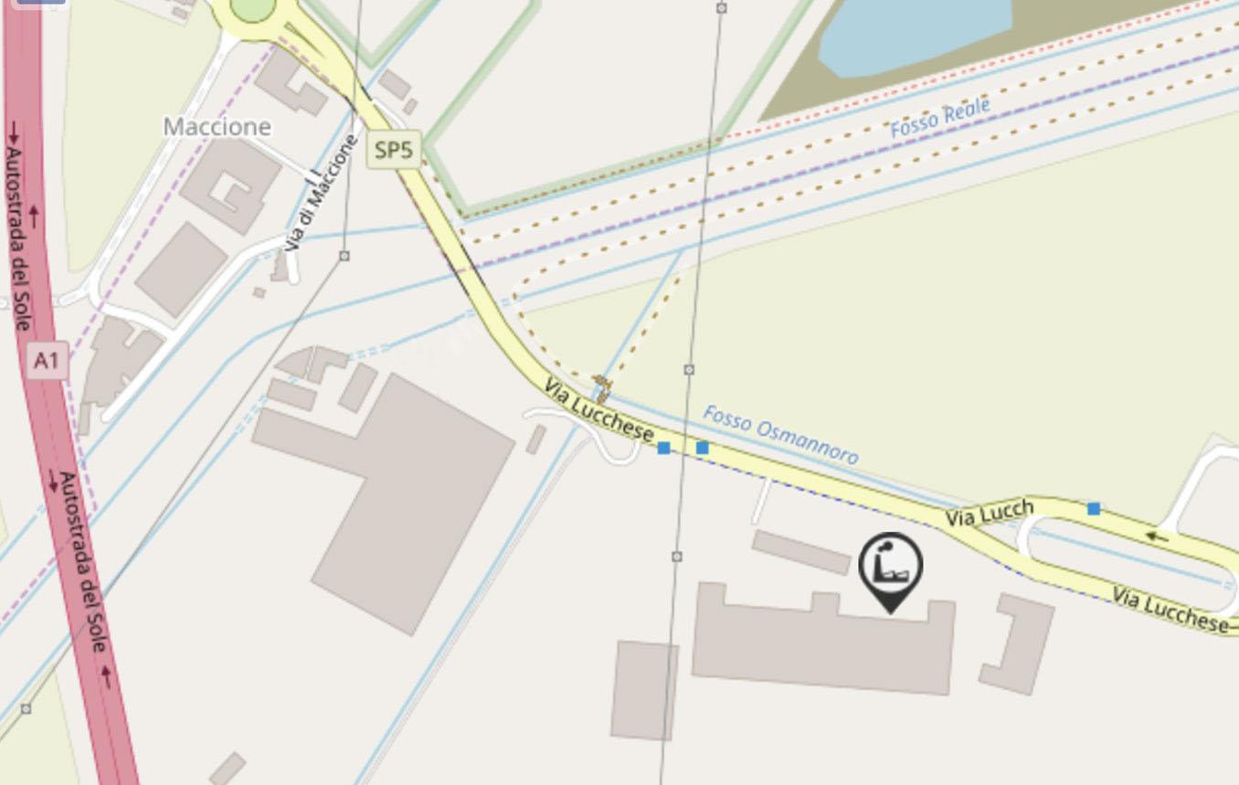 mappa localizzazione del magazzino 2 azienda vicini tubi in via lucchese a firenze