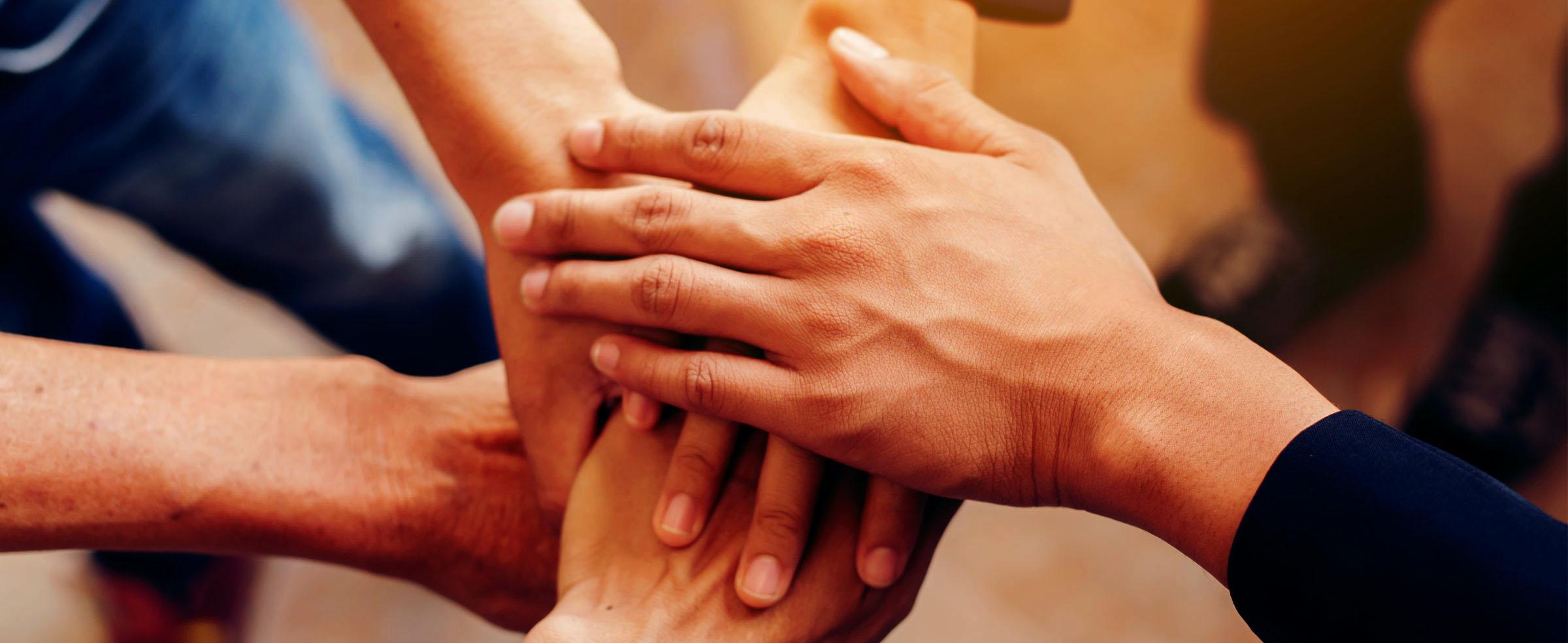 mani del personale di Vicini Spa per un miglior servizio al cliente