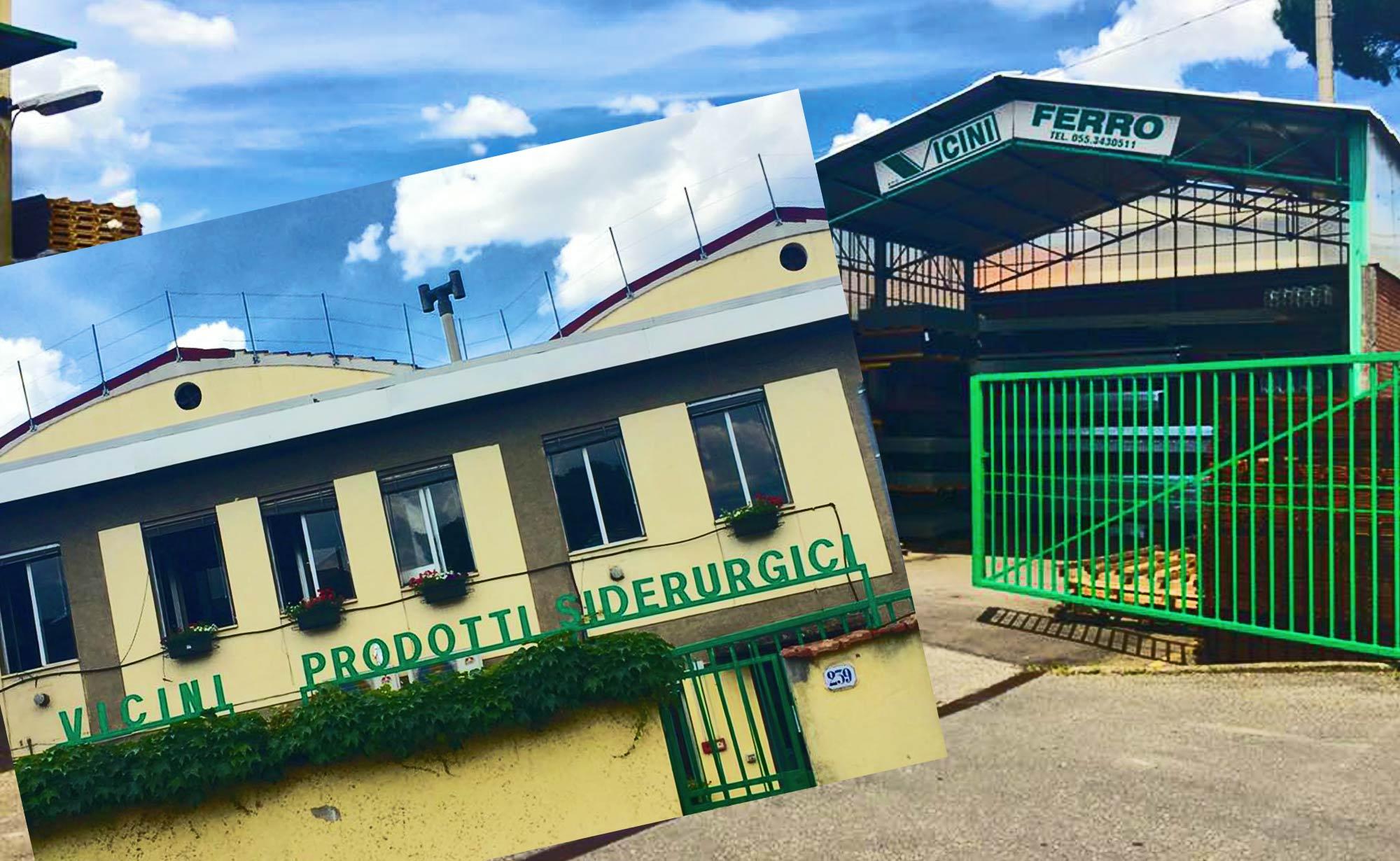 insegna sede Vicini spa prodotti siderurgici