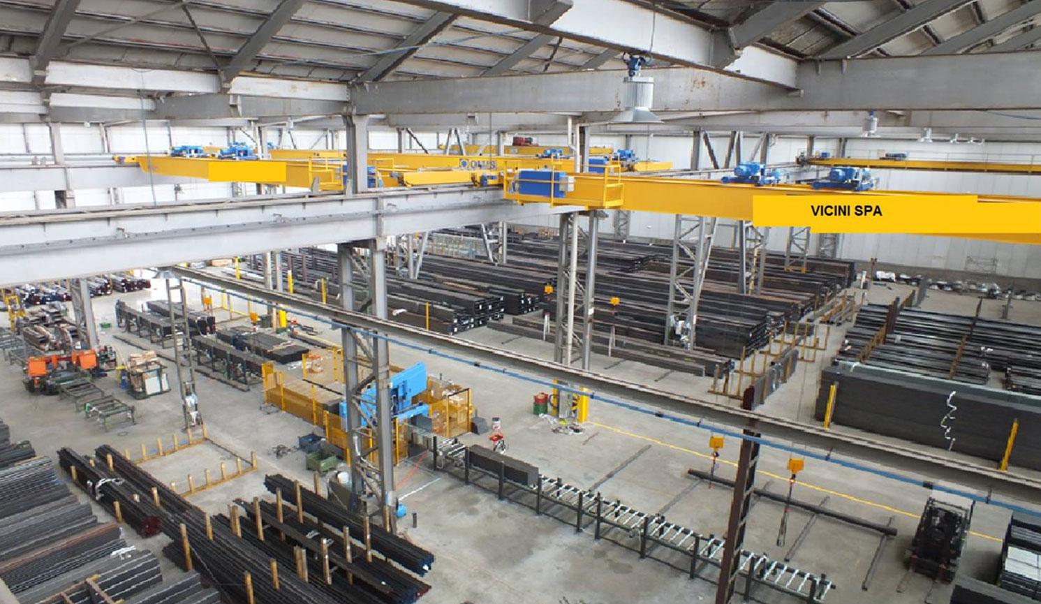 foto magazzino Vicini Tubi spa prodotti siderurgici